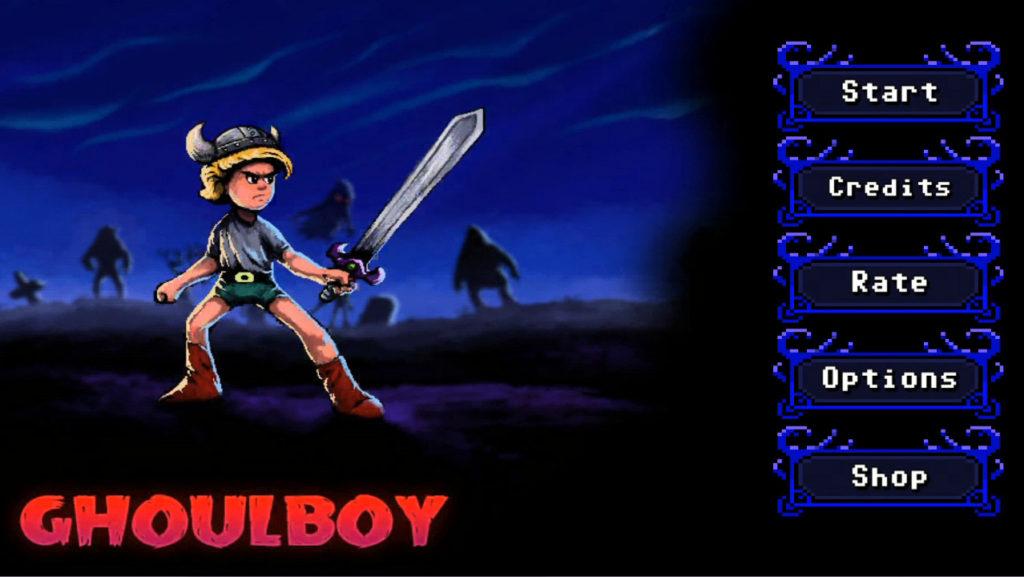 ghoulboy タイトル画面