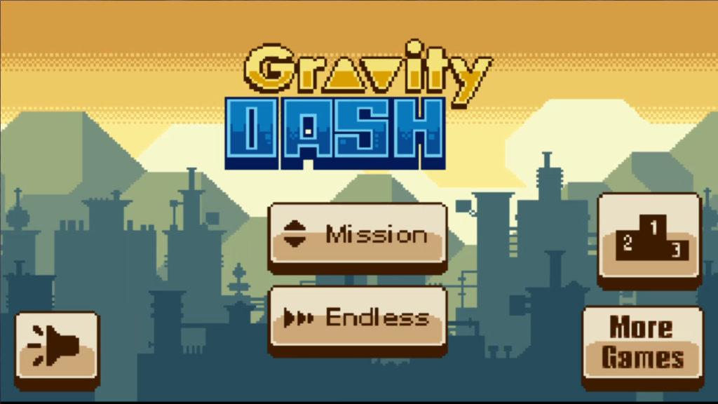 Gravity Dash タイトル画面