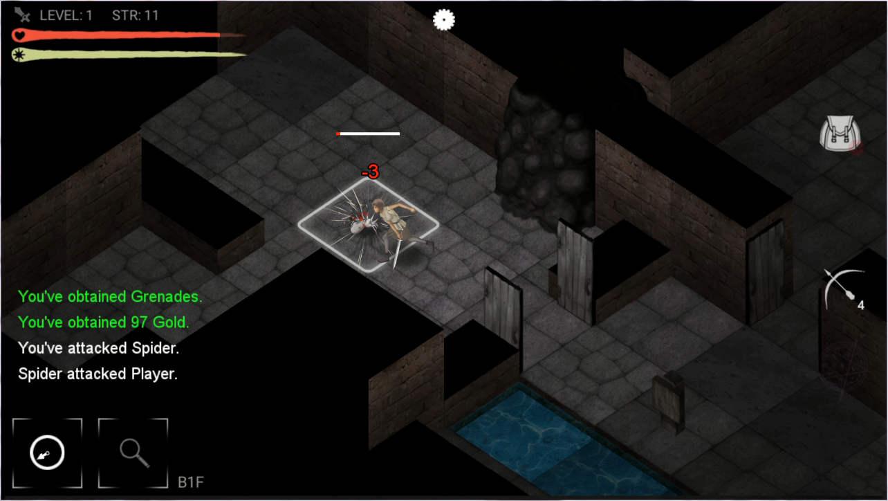 Darkness Survival 戦闘画面