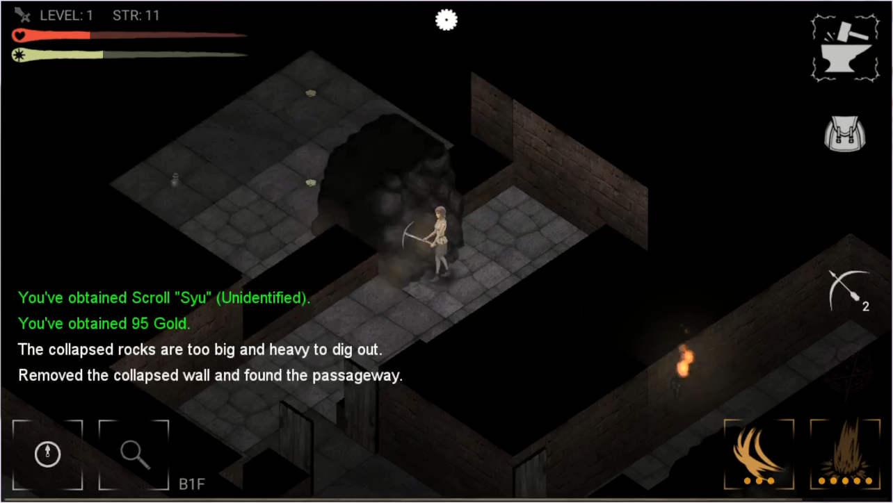 Darkness Survival 壁を壊すと隠し部屋