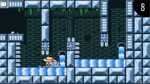 Duke Dashington レベル3は水が流れる神殿ステージ