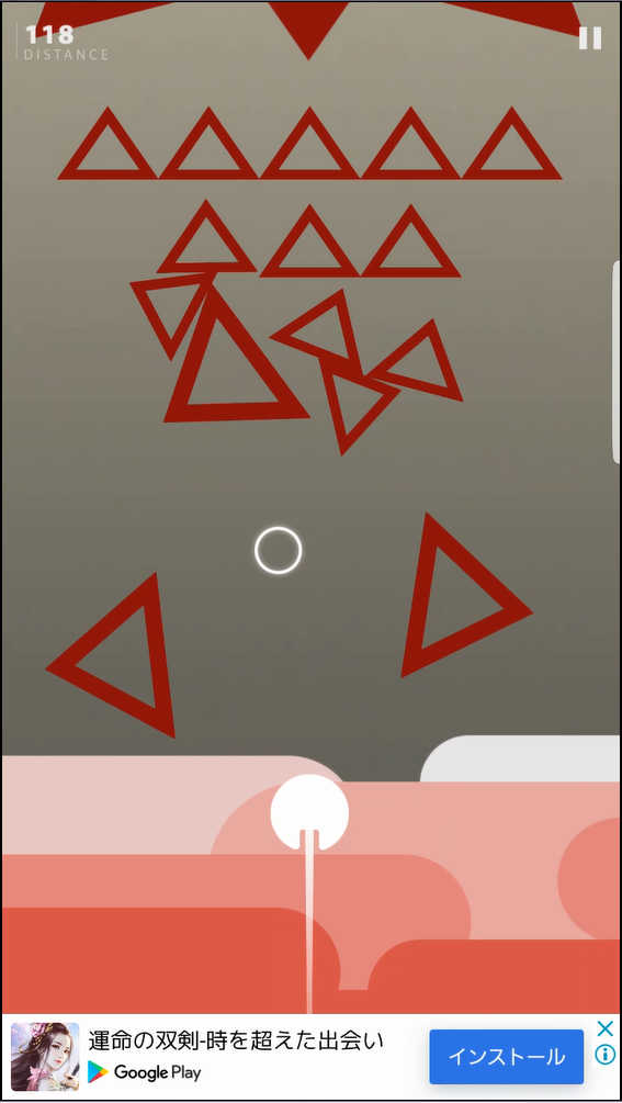 Force Escape 無数の三角が落ちてくる