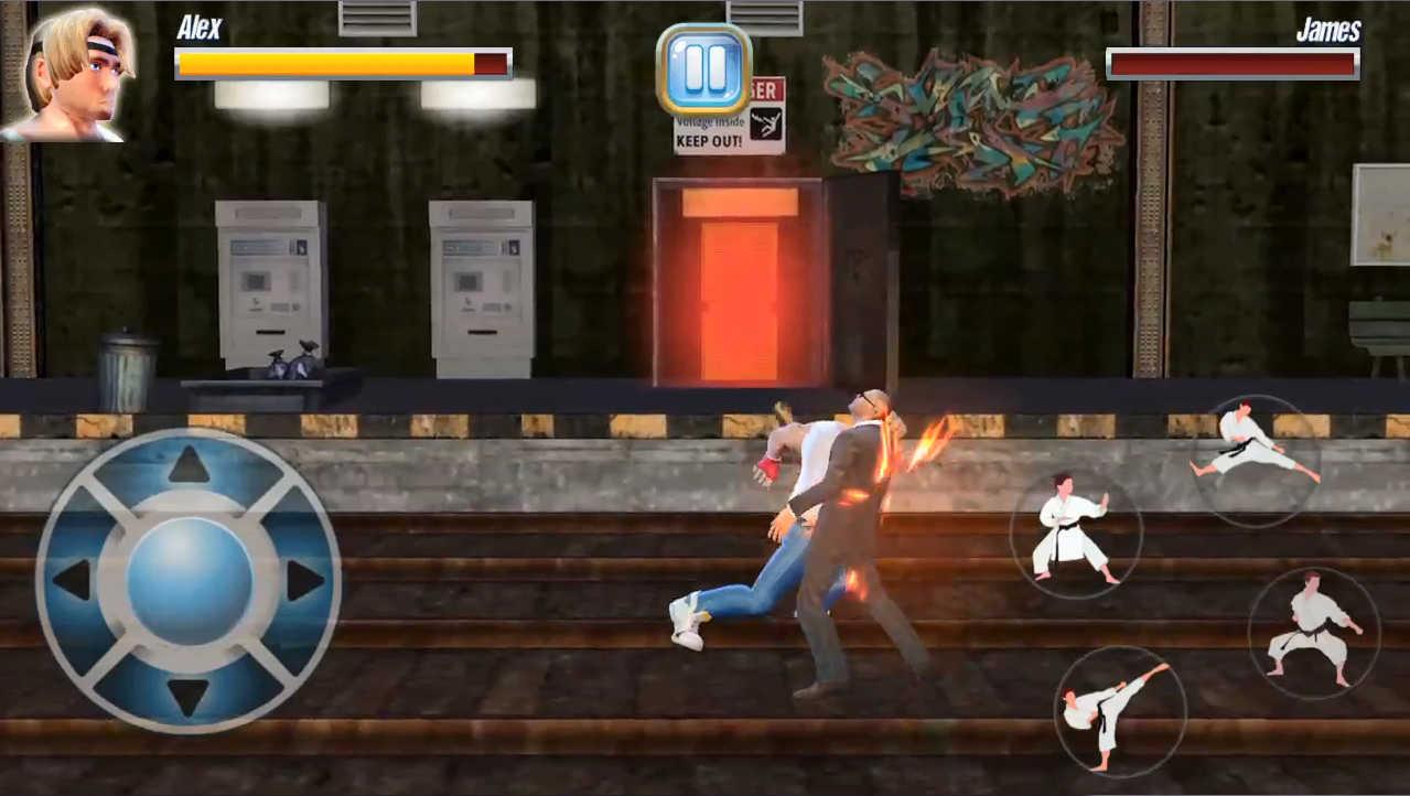 StreetRageFighter 敵に殴りかかると一発で倒せます!強い!