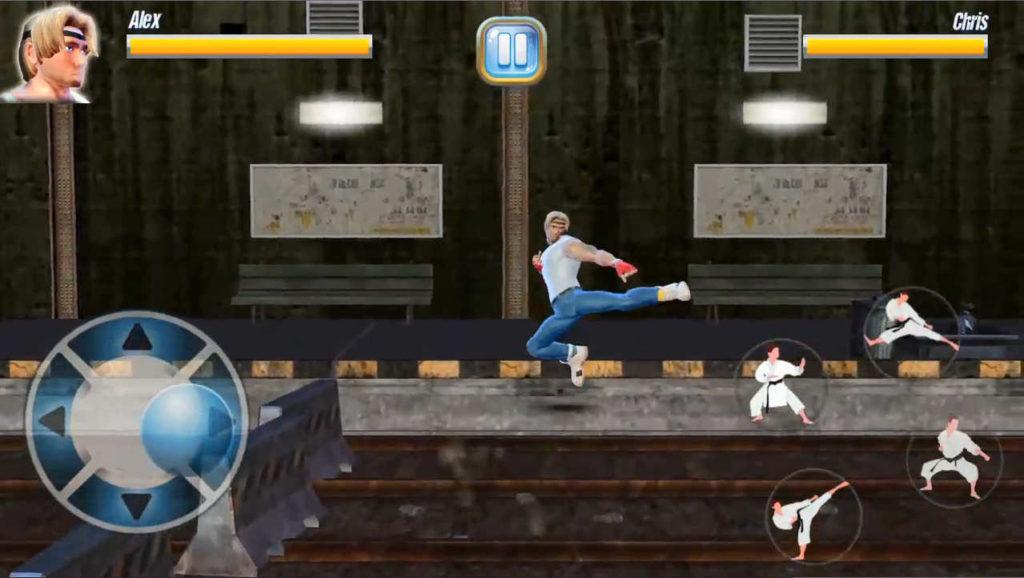 StreetRageFighter ジャンプ中にキックでジャンプキック!使えます!