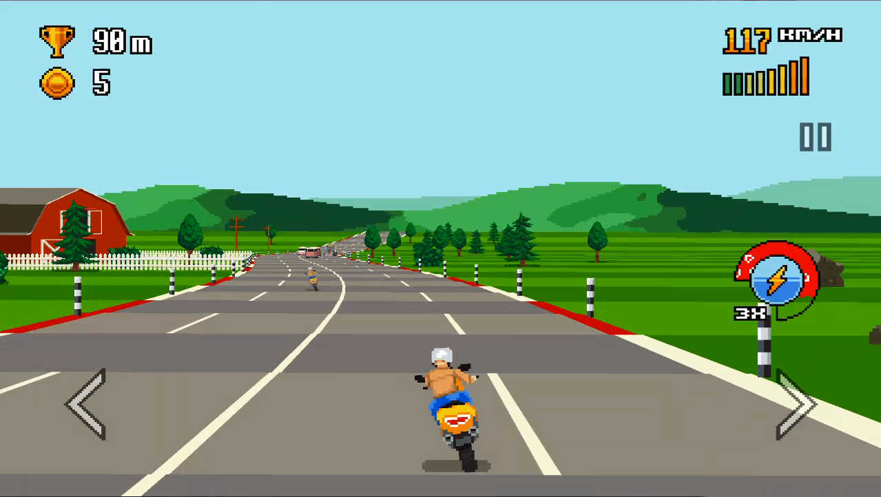 Retro Highway シンプルなバイクゲーム