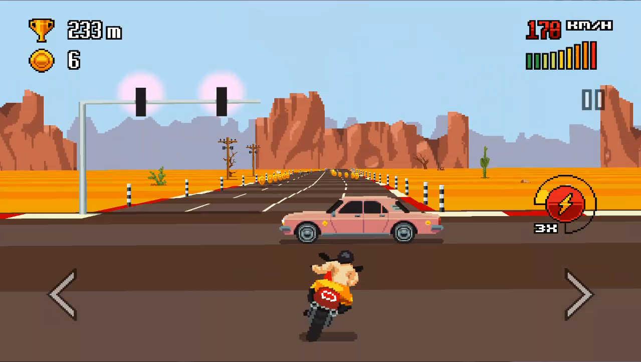 Retro Highway ステージ2は荒野のステージ