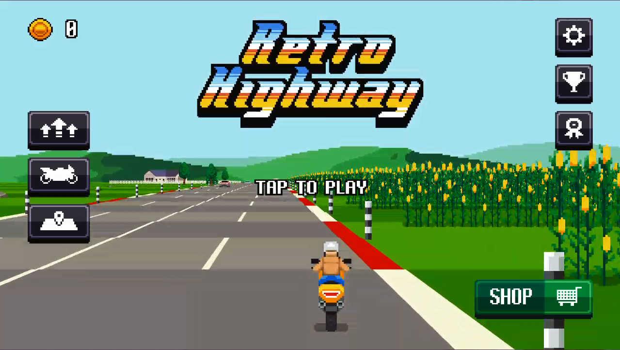 Retro Highway タイトル画面