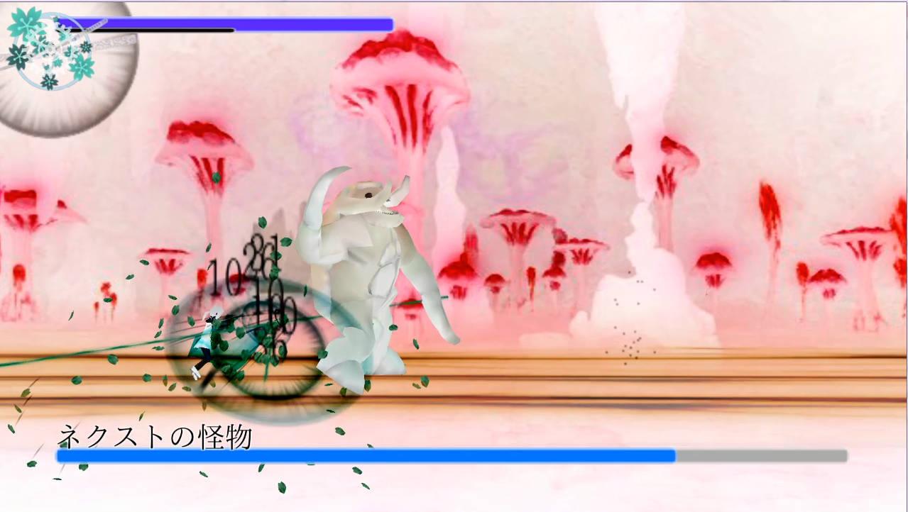 FlowerBlade2 バトル画面