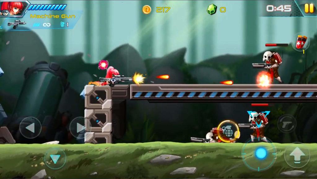 メタルウィングス ゲーム画面