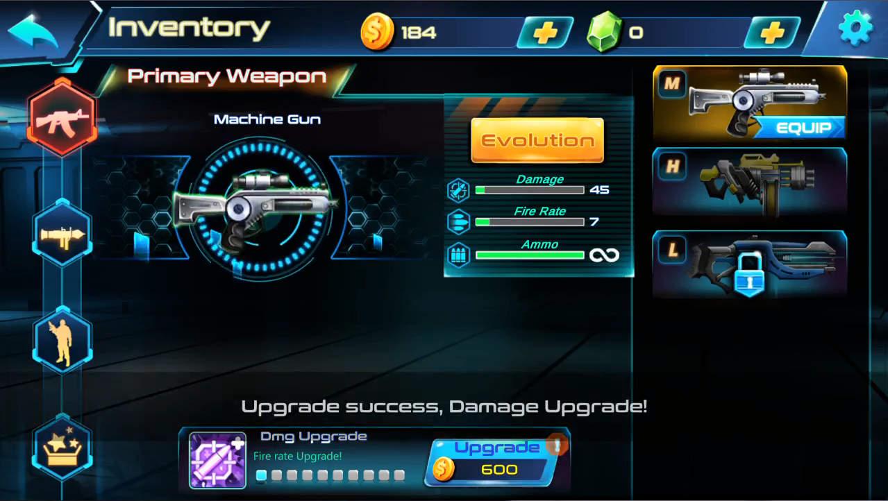 メタルウィングス 武器レベルアップ