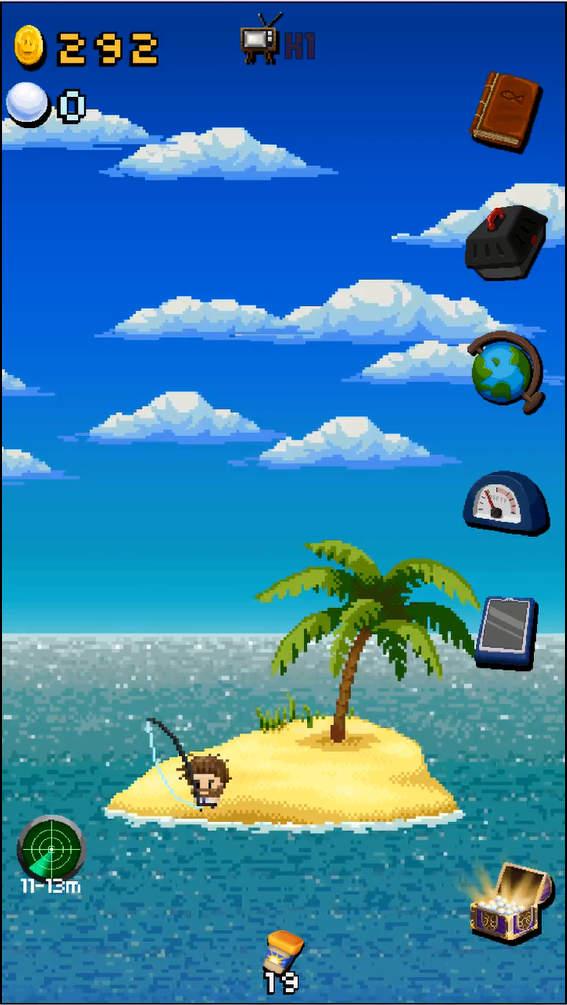 Desart Island Fishing メイン画面