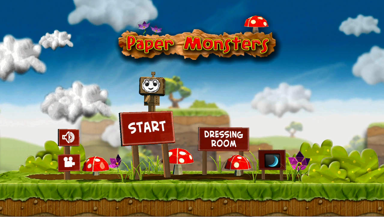 Paper Monsters タイトル画面