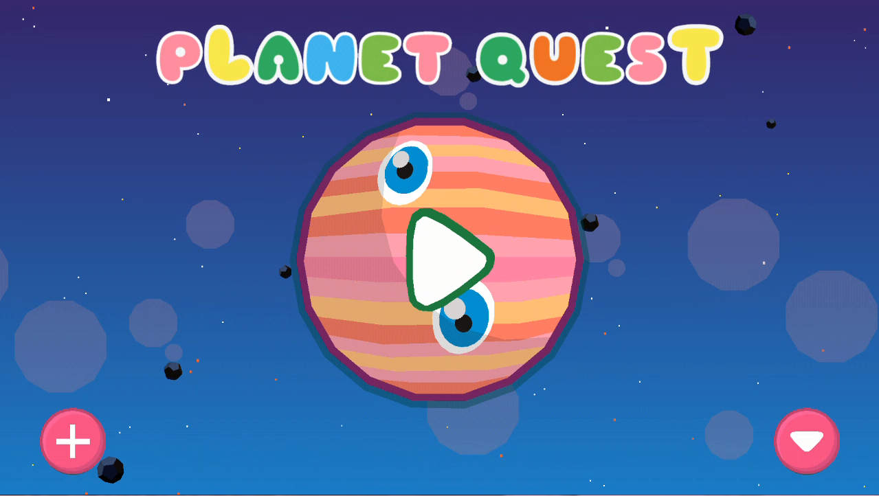 PlanetQuest タイトル画面