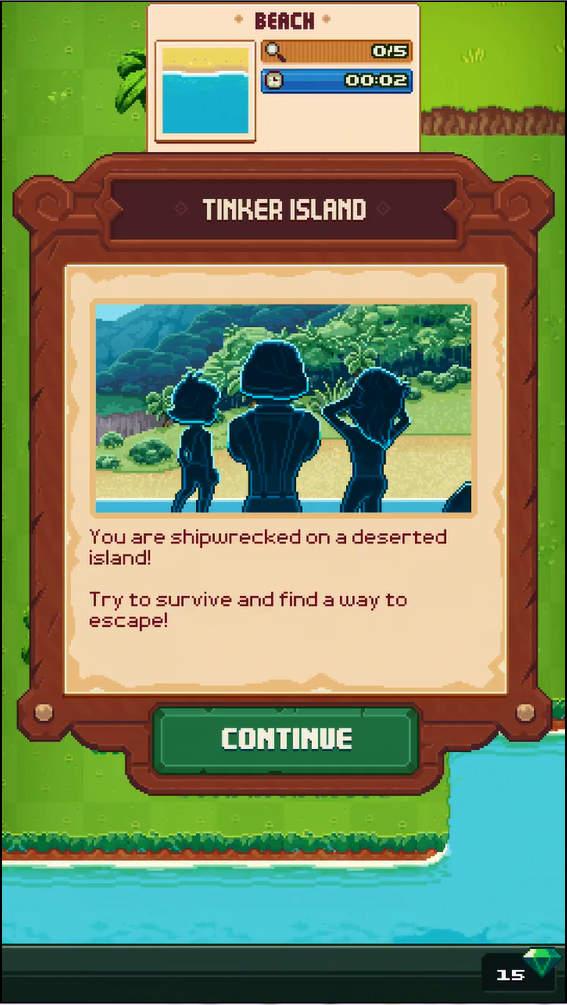 Tinker Island アドベンチャーパート
