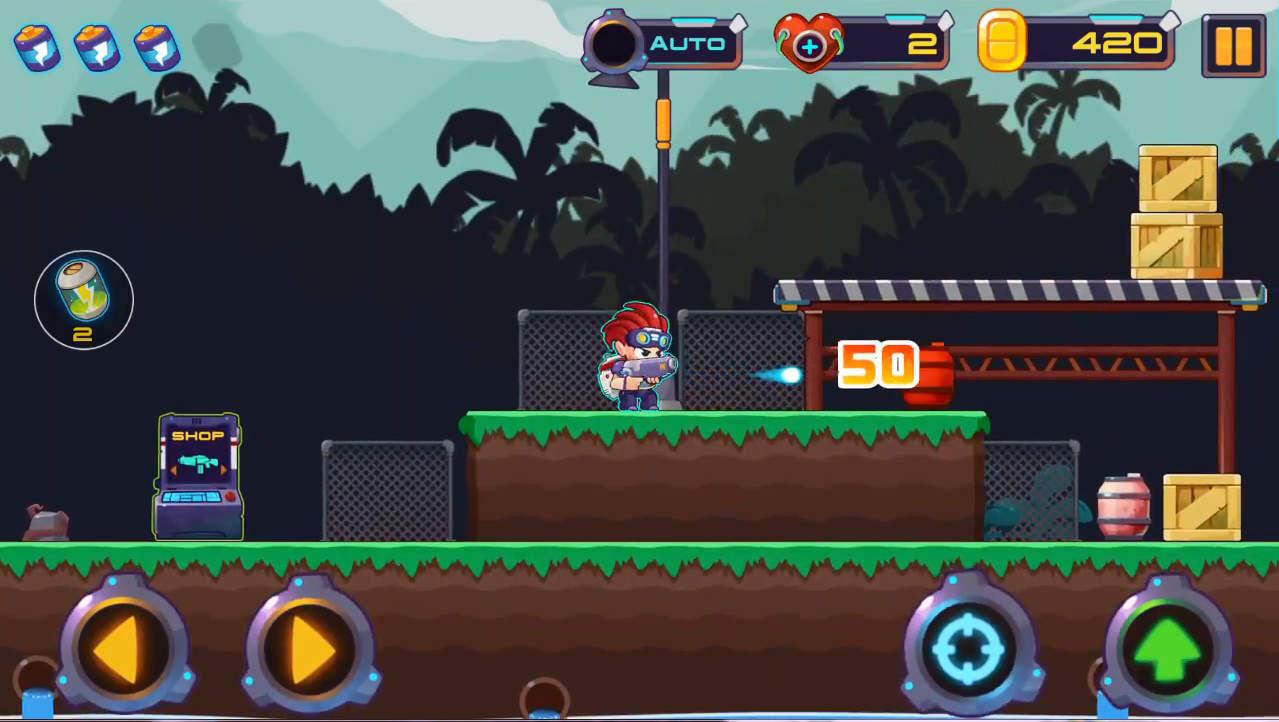 metal shooter N-WEAPON画面