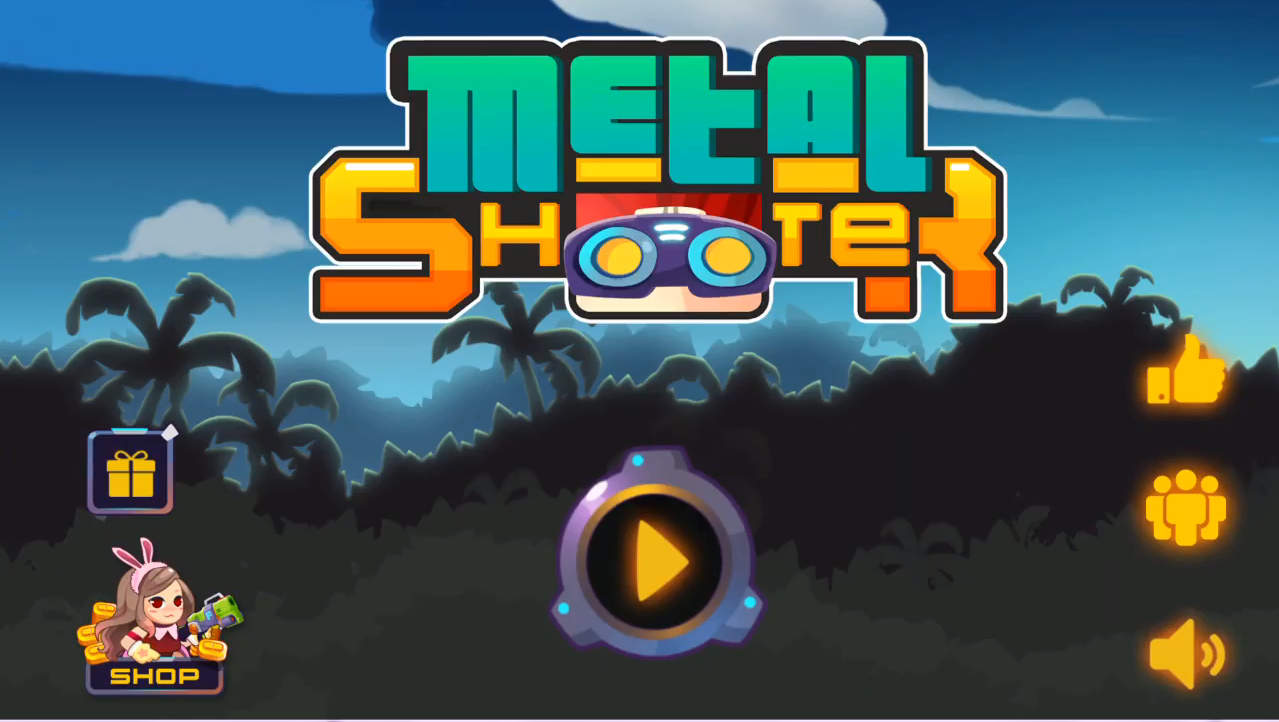 metal shooter タイトル画面