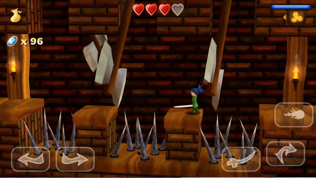 Swordigo ステージ画面