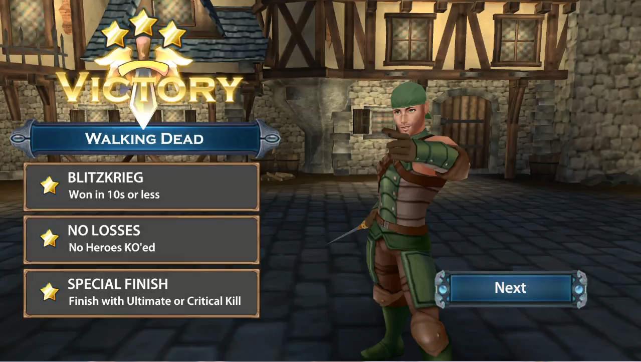 ChronoClash 勝利画面