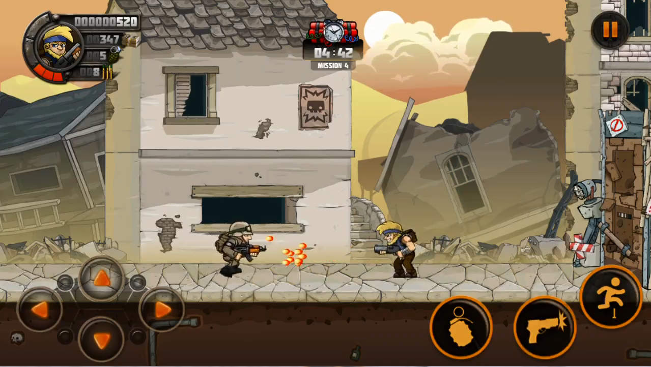 METAL SOLDIERS 2 ゲーム画面