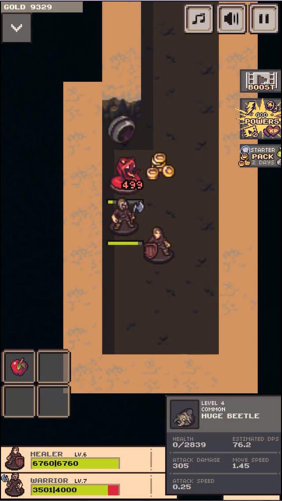 Idle Sword 2 ゲーム画面
