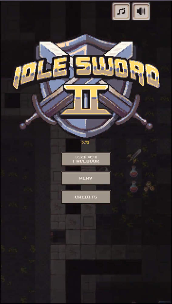 Idle Sword 2 タイトル画面