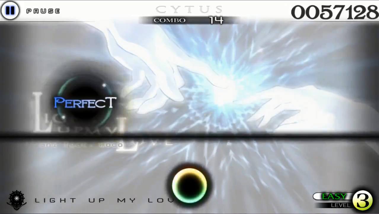 Cytus ゲーム画面