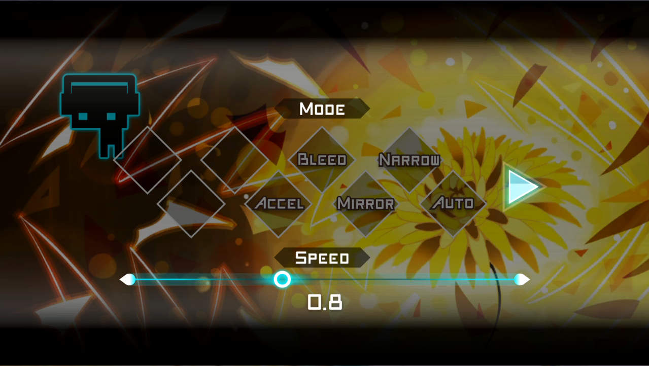 DYNAMIX プレイ選択画面