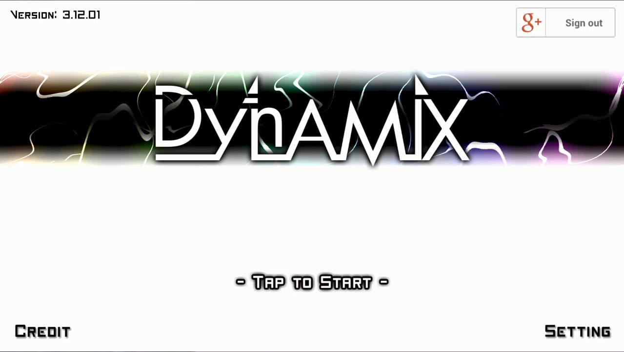 DYNAMIX タイトル画面