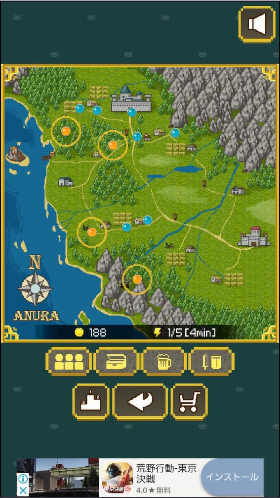 kerohiro マップ画面