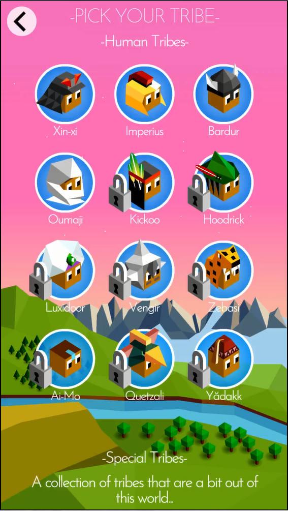 polytopia 部族選択画面