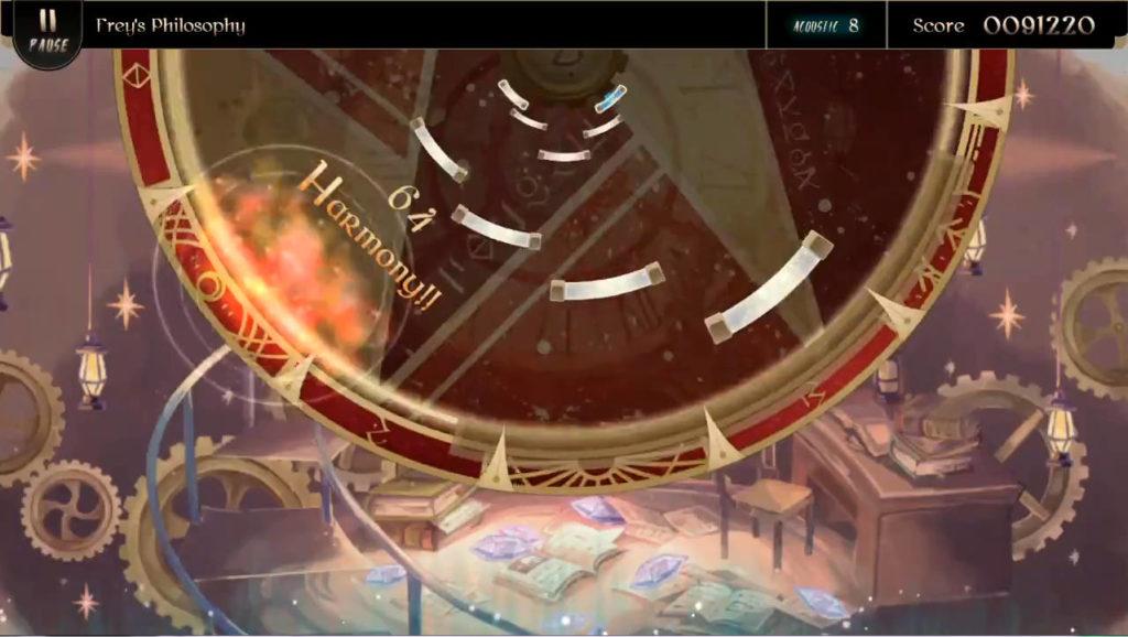 Lanota ゲーム画面