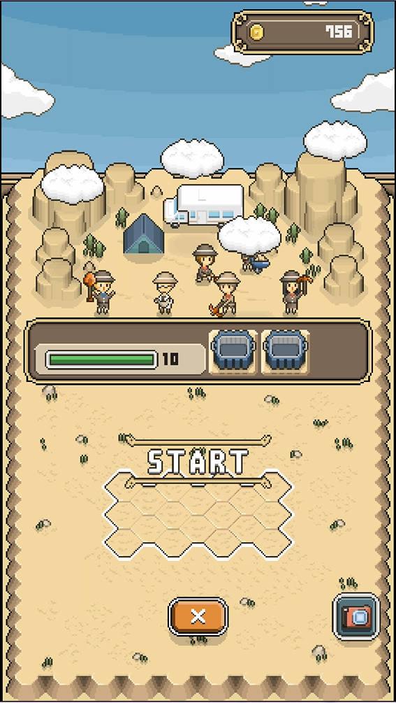 ボクと博物館 ゲーム画面