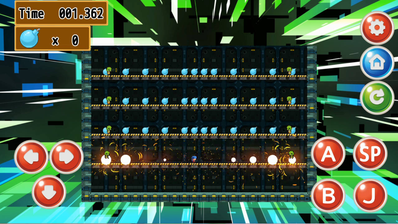 ボンバーレディ ゲーム画面