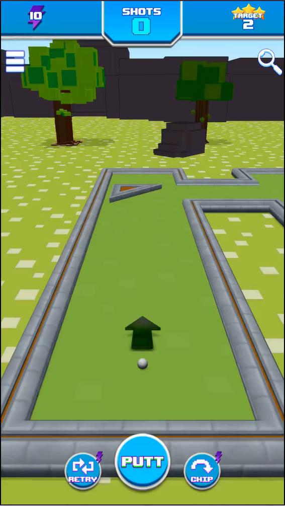 RetroGolf ゲーム画面